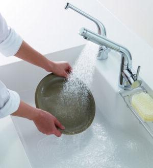 水ほうき水栓(ハンドシャワー式・エアイン)TOTO